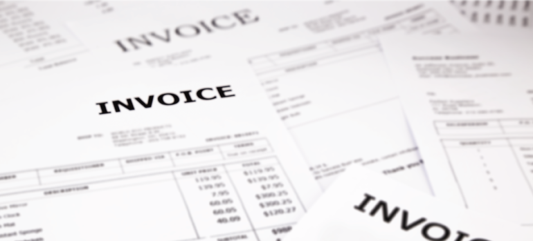 Stack of Invoices for accounts receivable financing