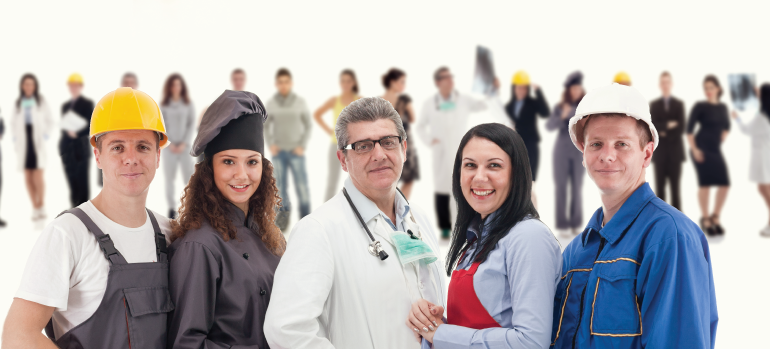 Staffing factoring for workers in various professions