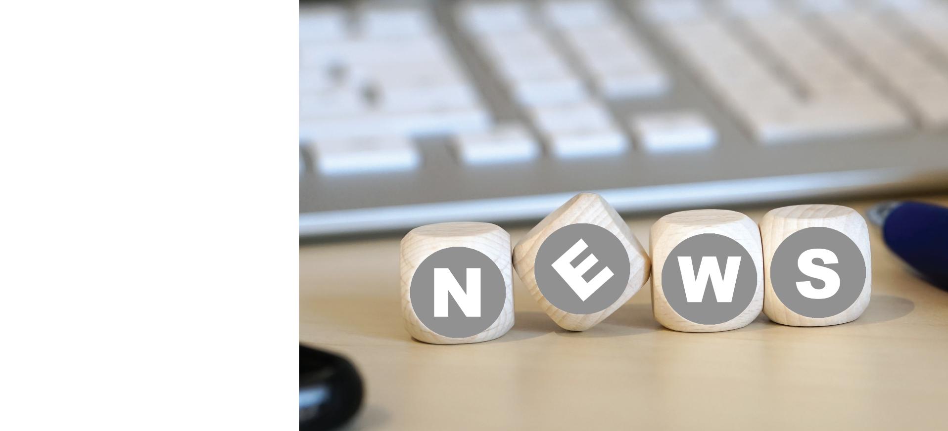 News blocks with keyboard